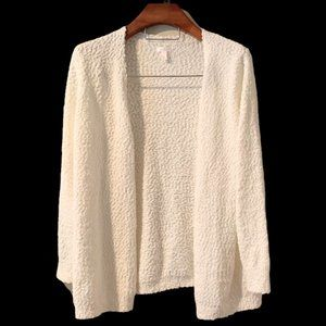 LC-Lauren Conrad Ivory Colored Open Front Sweater